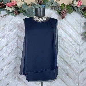 Armani Collezioni Navy Blue Sleeveless Blouse 6